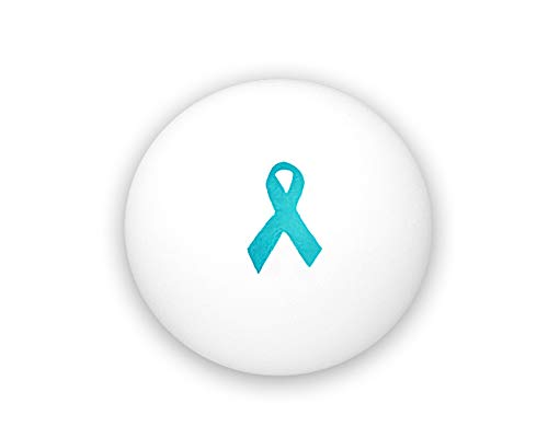 Fundraising For A Cause Teal Ribbon Awareness Stress Balls - (Wholesale Pack - 25 Balls) ()