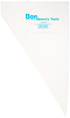 - Bon 14-219 Heavy Duty Plastic Disposable Grout Bag, 50-Pack