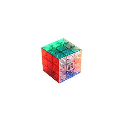 BeesClover 3x3x3 YJ Yulong Transparent Color Stickerless Cube Puzzle Moyu 3x3: Home & Kitchen