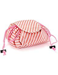Zyaner Creative Drawstring Lazy Makeup Storage Bag Portable Waterproof Exquisite Fashion Ladies Cosmetic Bag (White ()