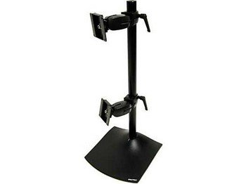 Ergotron 33-091-200 DeskStand DS100 - Stand for 2 LCD displays - aluminum, steel - black - screen size: up to 27 inch - mounting interface: 100 x 100 mm, 75 - Ergotron Conversion Kit