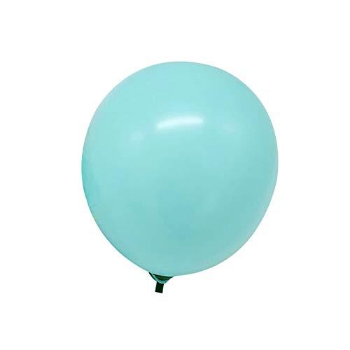 Aland 100Pcs 5inch Macaroon Color Round Latex Balloons Wedding Party Birthday Decor Lake Blue ()