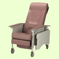 Deluxe 3 Position Recliner Fabric: Jade, Size: Adult