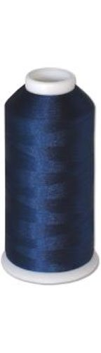 1 cone of Commercial Polyester Embroidery Thread Kit - Navy Blue P636 - 5500 yards - 40wt