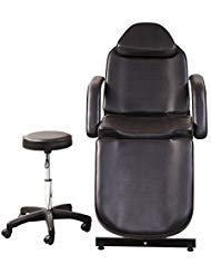 ColdBeauty Adjustable Salon Barber Bed Massage Beauty Bed with Hydraulic Stool Facial Acupuncture Chair