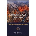 RTL Hardware Design Usings VHDL (06) by Chu, Pong P [Hardcover (2006)] (Pong P Chu Rtl Hardware Design Using Vhdl)
