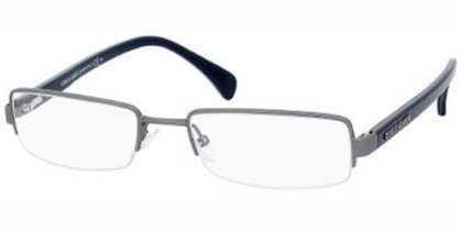 New Giorgio Armani Rx Ophthalmic Prescription Eyeglass Frame GA 867 0O4P - Matte Dark Ruthenium Blue - Ga Eyewear Blue