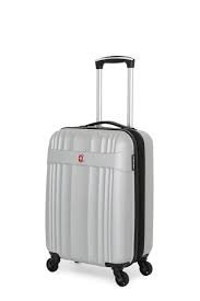 Swiss Gear Polycarbonate Luggage 19  Spinner   Expandable  Silver