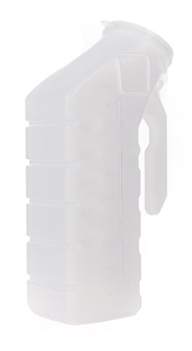Male Urinal McKesson 32 oz. / 1000 mL With Cover Single Patient Use - CASE of 48