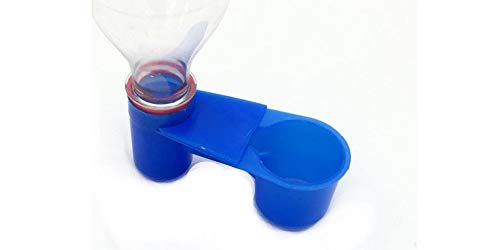 howellsfarm Blue Soda Pop Water Bottle Bird Drinker Cup Water Drinking Equipment for Quail Dove Chicken Pigeon (10 pcs)