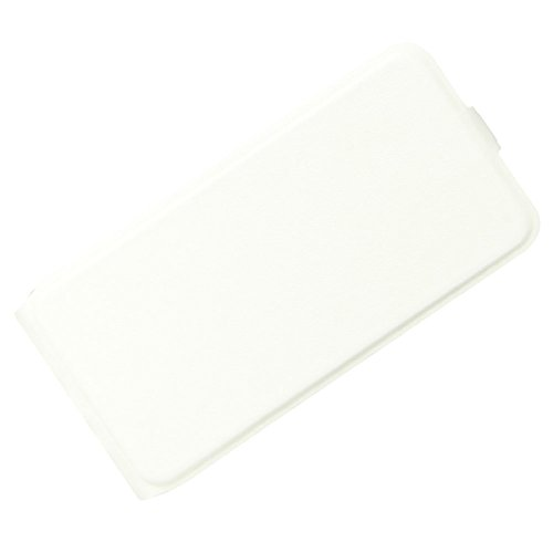 Para Samsung Galaxy X 4 G390F Caso compacto de piel PU, arriba-abajo piel abierta PU Funda de piel con ranura para tarjeta y función de protección completa con cierre magnético Caja a prueba de golpes Blanco