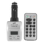BT-002 SD MMC USB Slot Car MP3 FM Transmitter with Bluetooth(Silver)
