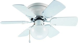Hardware House 41-5968 Arcadia 30-Inch Flush Mount Ceiling Fan, White or Bleached Oak, Appliances for Home