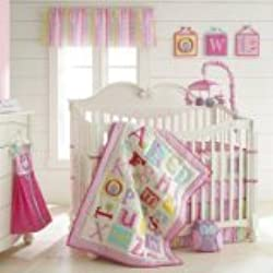Owlphabet Alphabet 4 Piece Crib Bedding Set Color: Pink
