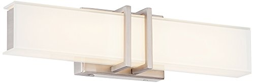 Possini Euro Exeter 3'' Wide LED Nickel Bathroom Light by Possini Euro Design