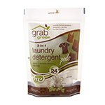 Grab Green 3-in-1 Laundry Detergents Vetiver Pre-Measured Concentrated Powder Pods 24 Loads (a)