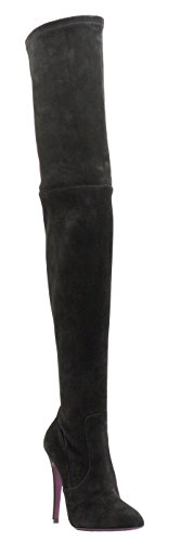 Amanda Gregory Grey Suede Over Knee - Gregory Grey