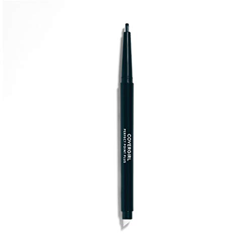 COVERGIRL Perfect Point PLUS Eyeliner, One Pencil, Black Onyx Color, Self Sharpening Eyeliner Pencil, Smudger Tip for Blending (packaging may vary)