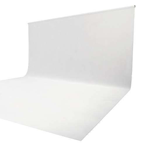 Issuntex 10X12 ft White Background Muslin Backdrop,Photo Studio,Collapsible High Density Screen for Video Photography and Television