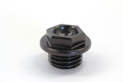 Works Connection Oil Filler Plug - Black 24-003