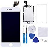 Screen Replacement for iPhone 6 Plus White 5.5' LCD Display Touch Digitizer Frame Assembly Full Repair Kit,with Proximity...