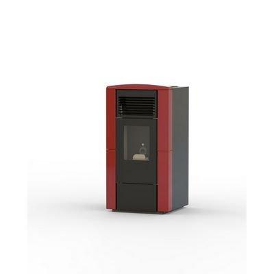 Eva calor – Estufa de pellets Daria Potencia térmica 9 kW Color Rojo