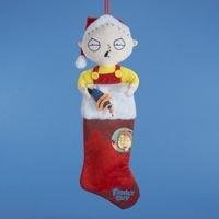 Family Guy Kurt Adler Stewie Plush Head Stocking, 24-Inch