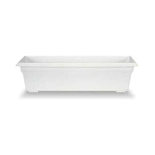 Countryside Flower Box Planter, White, 30-Inch -