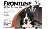 Frontline Plus Flea and Tick Control for Dogs and Puppies 8 Weeks or Older and Up To 89-132 Pounds, 12 Doses