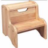 Gift Mark Childrens Two Step Stool, Natural