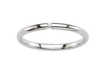 ARRIDA - www.diamants-perles.com - Alliance - Mariage - Or blanc 375/1000 et Diamant - 9 carats - Largeur 2 mm