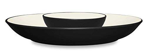 Noritake Colorwave Graphite 13-3/4-Inch Chip and Dip (Platter Noritake Stoneware)