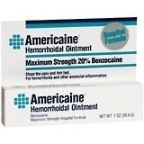 Americaine Hemorrhoidal Ointment Maximum Strength 20% Benzocaine 1 (Maximum Strength Ointment)