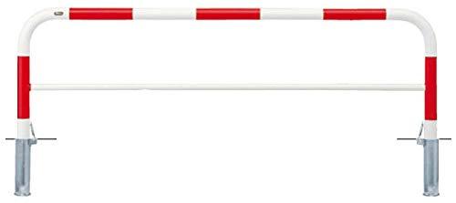 サンポール アーチ 差込式フタ付 車止めポール 径60.5mm W2000×H800 赤白 メーカー直送 FAH-7SF20-800(RW)   B07MXC6ZLM