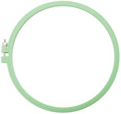 Bulk Buy: Susan Bates Hoop-La Plastic Embroidery Hoops 8-1 Each Of 6 Bright Colors 14401008 (6-Pack) Coats & Clark Inc.