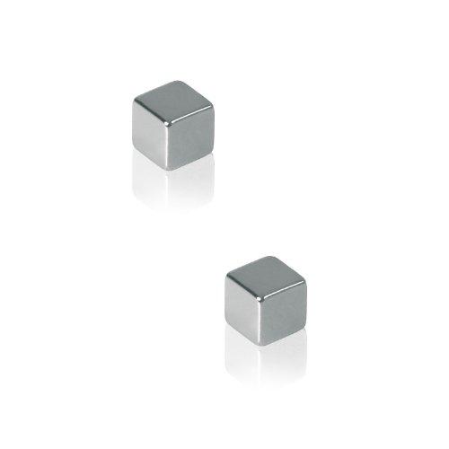 Sigel GL191 SuperDym-Magnete Cube-Design, silber, 2er-Set für Glas-Magnettafeln - viele Designs