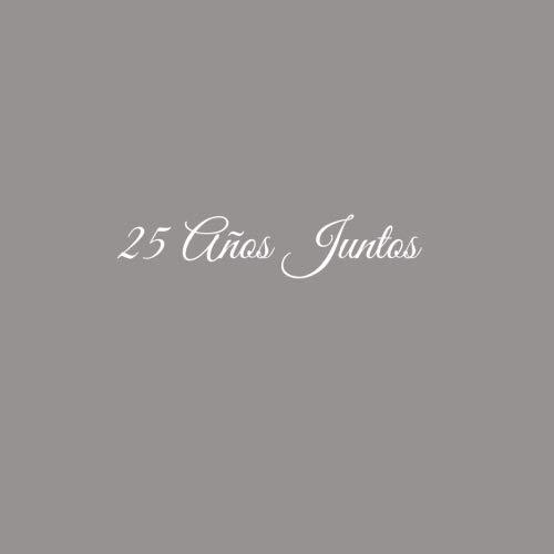 25 Aos Juntos ..........: Libro De Visitas 25 aos juntos para Aniversrio de Bodas decoracion accesorios ideas regalos eventos firmas fiesta hogar ... 21 x 21 cm Cubierta Gris (Spanish Edition)