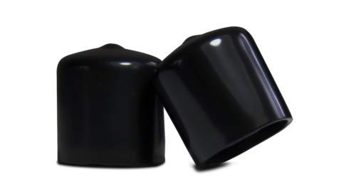 4 Pack - 1/2'' Black Vinyl Round End Cap .5 Rubber Cover Pipe Tubing Stopper