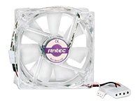 Antec 80MM SMARTCOOL Case Fan with 3-pin and Connector and 4-pin Adapter (4 Pin Peripheral Connector)