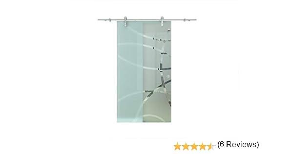 Corredera de cristal Puerta Corredera de cristal puertas de cristal Satinado 1025 x 2050 mm: Amazon.es: Bricolaje y herramientas