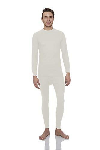 Rocky Men's Thermal 2pc Set Long John Underwear (L, Natural)