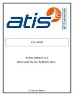 Atis 1000071 Technical Report On A Nationwide Number Portability