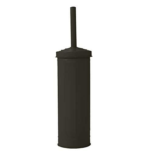 Elaine Karen Deluxe Retro Galvanized Steel Toilet Brush - (Hotel Toilet Brush Holder)