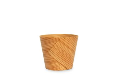 Handcrafted Japanese Bentwood Sake Cup Made of Cedar, 1pcs