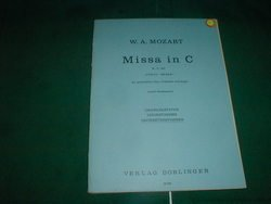 Mozart. Missa In C Set of Parts for Orchestra, Parts include: 1.Violine, 2. Violine, (2) Cello/Kontrabass, (2) 1.2. Oboe, 1.2. (2) Trompete in C, Pauken C, G. Verlag Doblinger, K.-V.257
