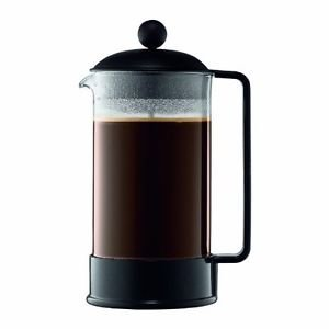 Bodum Brazil 8-Cup French Press Coffee Maker, 34-Ounce, Black