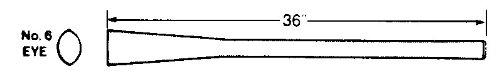 Vaughan & Bushnell 683-62 36'' Pick / Mattock Replacement Handle #6 Eye - Supreme Grade (68362)