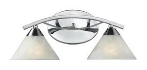 Elk 17021/2 Elysburg 2-Light Vanity In Polished Chrome (Elysburg 2 Light)