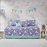 Kids Comforters Daybed - Urban Habitat Kids Lola 6 Piece Cotton Reversible Daybed Set, Purple