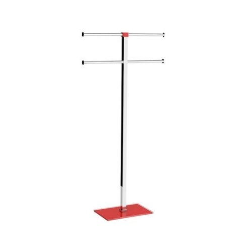 Gedy Rainbow Towel Holder in Steel and Resin, Red